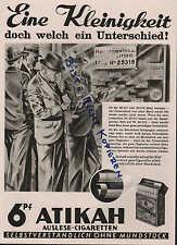 Werbung: DRESDEN, 1932, Delta GmbH ATIKAH-Auslese Cigaretten mit Gold-Mundstück