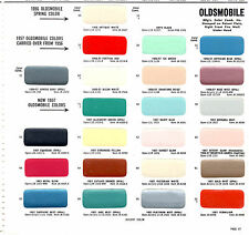 1956 1957 OLDSMOBILE 98 GOLDEN ROCKET SUPER 88 PAINT CHIPS 57 SHERWIN WILLIAMS