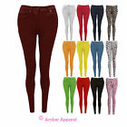 NEW WOMENS LADIES SKINNY FIT COLOURED STRETCH JEANS JEGGINGS SIZE 8-20