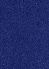 10 ROYAL BLUE A4 GLITTER CARD 290gsm SOFT TOUCH  NON SHED.