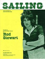 Sheet Musiic: SAILING Rod Stewart Original Issue on Near New condition Frame/Use