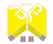 Rock Shox SID Race Mountain Bike Cycling Factory Style Decal Kit Sticker Yellow