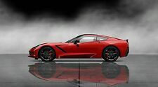 """2014 Red Chevrolet Corvette - 42"""" x 24"""" LARGE WALL POSTER PRINT NEW."""