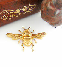 BRASS Large BEE With WINGS Brass Stampings - Ornament Findings (FA-6023)