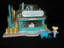 Vintage-Polly-Pocket-VERY-RARE-1995-Light-up-Supermarket Playset & 2 figures