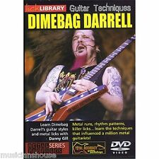 LICK LIBRARY GUITAR TECHNIQUES DIMEBAG DARRELL Learn to Play Metal Lesson DVD