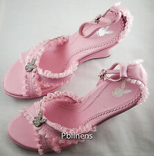 PLAYBOY SANDALS SHOES PINK SIZE 3 NEW IN BOX RRP £75 SALE £55 BUY NOW!!