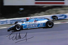 Eddie Cheever SIGNED F1 Ligier-Matra JS17 , British GP Brands Hatch 1982