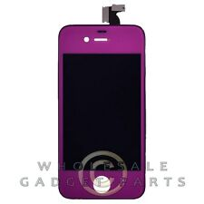 LCD Digitizer Frame Assembly for Apple iPhone 4 CDMA Purple/Black  Front Glass