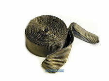 TITANIUM HEAT WRAP 7.5 METRE EXHAUST INSULATING TAPE DOWNPIPE  MANIFOLD RAP