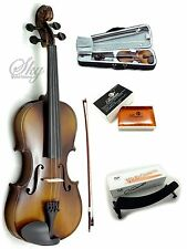Solid Wood Violin 1/2 Half Size Hi-Quality w Rosin, Light Case+ Brazilwood Bow