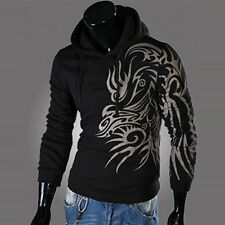 Men Top Design Hoodie Jacket Coat Long Sleeve Pullover Jumper Sweater Sweatshirt