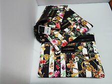 NWT Juicy Couture Flat Cosmetic/makeup Bags -  Floral Print - Set of 3