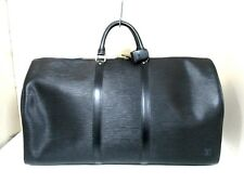 Authentic LOUIS VUITTON Epi Keepall 55 M42952 Noir Boston Bag SP0975