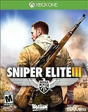 XBOX ONE SNIPER ELITE III NEW VIDEO GAME