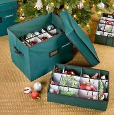 ADJUSTABLE CHRISTMAS ORNAMENT STORAGE CASE BOX BIN Water Resistant Durable