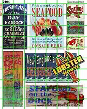 2104 SEAFOOD LOBSTER MARKET CRAB SHRIMP DOCK SIGNS ADVERTS DAVE'S DECALS
