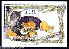 Isle of Man MNH SS, Cats, Kitens, Domestic Animals