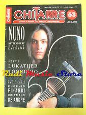rivista CHITARRE 63/1991 Toquinho Steve Lukather Nuno Bettencourt Finardi No cd