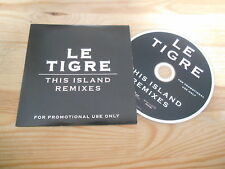 CD Punk Le Tigre - This Island Remixes (8 Song) Promo CHICKS ON SPEED cb