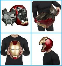 Iron Man Electronic Helmet Red Light Up Eyes Sound Effects Mask LED Lightup New