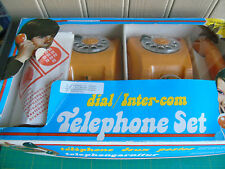Vintage Toy Telephone Set - 1970's - Yugoslavia Mehanotehnika with box - VGC