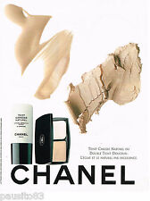 PUBLICITE ADVERTISING 065  1998  CHANEL  maquillage  TEINT CARESSE