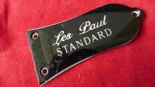 Genuine E-Logo LP Standard Guitar Truss Rod Cover Black TRCS