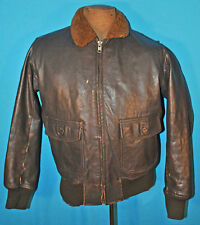 VINTAGE US NAVY G-1 FLIGHT JACKET 55J14 BUAER BROWN LEATHER BOMBER REPRODUCTION