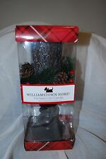 """WILLIAMSTOWN HOME CHRISTMAS FLAMELESS LED PEDESTAL CANDLE TREE BARK 12"""" NEW"""