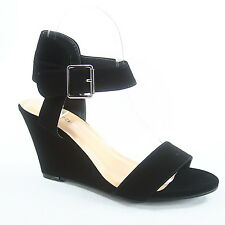 NEW Fashion Strappy Open Toe Wedges Sandal Ankle Strap Shoes Size 5 - 10