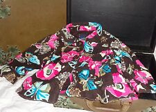 Baby Gap Chelsea Collection Brown Pink Butterfly Flower Jacket Coat Size 2 2T