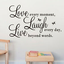 Quote Wall Art Sticker Live Love Laugh Home Vinyl Transfers Decals Graphics SK