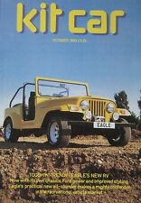 Kit Car magazine 10/1983 featuring Tarragon, Albar Sonic, Eagle RV