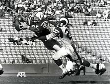 RAYMOND BERRY CATCHES PASS FROM UNITAS COLTS ALL TIME GREAT photo 8 x10