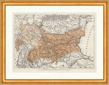 Die neue Karte der Balkanhalbinsel San Stefano Frieden Grenzen Holzstich E 13081