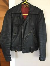 Vnt Horsehide Motorcycle Jacket ~California Montgomery Wards ~Devil On Back