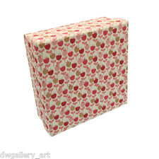 Pretty Gift/Storage Box with Pink Cherry Patterns. Size: 16.5x16.5x6.5cm. GBS89