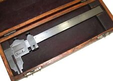 "STARRETT 6"" MASTER .001 INSIDE OUTSIDE MEASURING VERNIER NO.122 W/ CASE"
