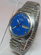 Seiko Automatic 21 Jewels Date Blue Dial 7006 Stainless Steel Mens Watch