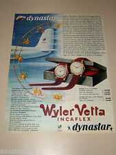 *58=WYLER VETTA OROLOGIO WATCH=1958=PUBBLICITA'=ADVERTISING=PUBLICIDAD=WERBUNG=