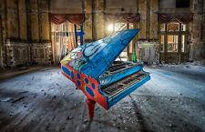 """ARTE astratta colorata Pianoforte Musica Wall Art foto su tela 20""""x30"""""""