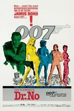 """JAMES BOND POSTER """"DR. NO"""" LICENSED """"BRAND NEW"""" SEAN CONNERY AS 007"""