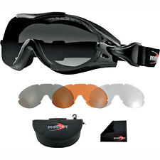 Motorcycle Bobster Over The Glasses Phoenix Goggles - Interchangeable UK Seller