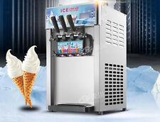 CE 3 Flavor Commercial Frozen Ice Cream Cones Machine Soft Ice Cream Machine
