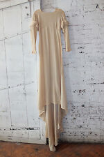 Vintage 1930's Ivory Crepe Rayon Wedding Dress Gown, Study, Dada Surrealist