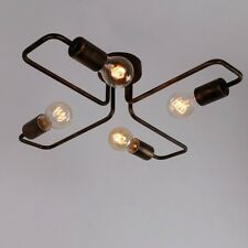 New Unitary BRAND Brown Flush Ceiling Light Metal E27  with Metal Ceiling Plate