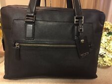 Tumi Beacon Hill Vernon Brief Leather Briefcase Laptop Black 68530 Reg $595 NEW