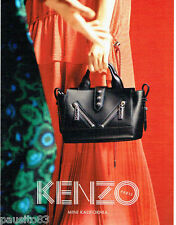 PUBLICITE ADVERTISING 1016  2015   le sac Mini Kalifornia  par Kenzo
