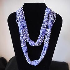NEW Infinity-style LAVENDER Neck Wrap/Scarf with Silver Bead Embellishment